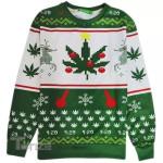 Christmas  Weed Leaf Snowflake Ugly sweater