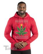 Weed Marijuana Lit Deer Pot Leaf Xmas Lights Christmas  Graphic Unisex T Shirt, Sweatshirt, Hoodie Size S - 5XL