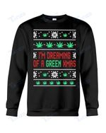 Weed Green Xmas  Ugly Christmas Sweater  Graphic Unisex T Shirt, Sweatshirt, Hoodie Size S - 5XL