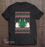 Marijuana Ugly Christmas Smoke Weed 420 High Stoner Xmas Graphic Unisex T Shirt, Sweatshirt, Hoodie Size S - 5XL
