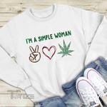 Peace Love Weed Christmas Graphic Unisex T Shirt, Sweatshirt, Hoodie Size S - 5XL