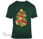Weed Christmas Tree  Graphic Unisex T Shirt, Sweatshirt, Hoodie Size S - 5XL