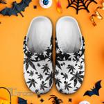 Weed leaf black pattern Crocband Clog