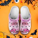 Breast cancer truck in october we wear pink Crocband Clog