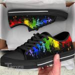 LGBT pride color pattern Low Top Canvas Shoes