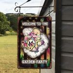 Weed Don't Care Bear Flag Tiedye Vertical Printed Metal Sign