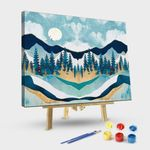 Abstract Mountain Nature Scenery