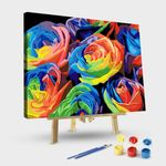 Abstract Colorful Rose Flowers