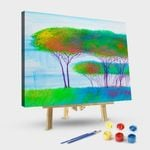Abstract Trees On The River#style 4
