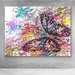 Canvas Prints- Flower butterfly