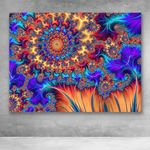 Canvas Prints-Abstract Mandala Flowers