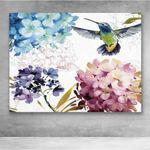 Canvas Prints-Hummingbird Flower