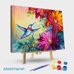 Hummingbird and flower #7
