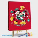 Mickie and Minnie Christmas Kiss