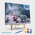 Polar Bears And Santa Claus