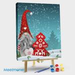 Gnome Standing Snowfall