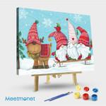 Elf Gnome Trio With Reindeer