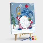 Snowy Gnome with Present