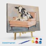 Sofa flower cow