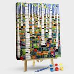 Abstract birch forest
