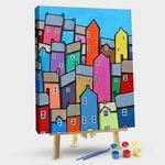 Colorful abstract house