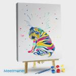 Multicolor Shar Pei Puppy