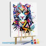 Rainbow tiger head