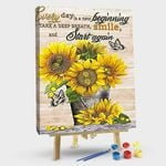 The beautiful sunflower every day is a new beginning