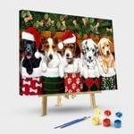 Christmas bunch of dogs