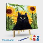 Dan De Lion With Sunflowers
