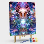 Tiger & Moon Tapestry
