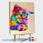 Colorful Cute Cat