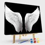 Large Black and White Angel Wings