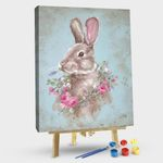 Bunny With Wreath