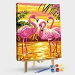 Pink Flamingo at Sunset