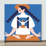 Mini - Hat Girl(Already Framed Canvas)