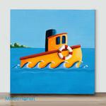 Mini - Lil Tugboat(Already Framed Canvas)