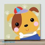 Mini - Cute dog(Already Framed Canvas)