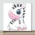 Mini - Little Zebra 2(Already Framed Canvas)