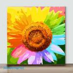 Mini - Colorful sunflowerII(Already Framed Canvas)