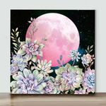Mini-Succulent Night II(Already Framed Canvas)