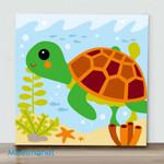 Mini – Little turtle(Already Framed Canvas)