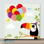 Mini – Clown Parrot(Already Framed Canvas)