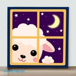 Mini – Pink Sheep(Already Framed Canvas)