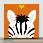 Mini – Zebra (Already Framed Canvas)