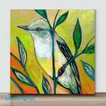 Mini – Leaf bird(Already Framed Canvas)