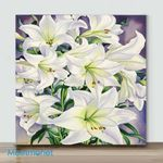 Mini-White Lilies(Already Framed Canvas)