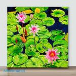 Mini-Water Lilies(Already Framed Canvas)