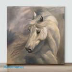 Mini-White Stallion(Already Framed Canvas)