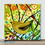 Mini - Spring Birds Series (Bird IV)(Already Framed Canvas)
